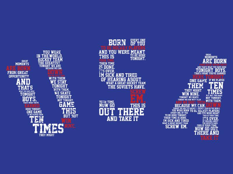 """Do you believe in miracles?"" vector apparel sportsdesign hockey retro branding logo hand illustration flat drawn vintage sports grunge athletics typography design"