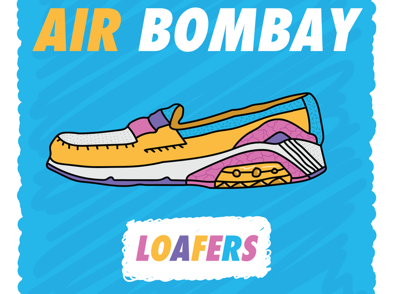 Air Bombay Loafer flat hand apparel sportsdesign hockey vector retro illustration drawn vintage sports grunge athletics typography design