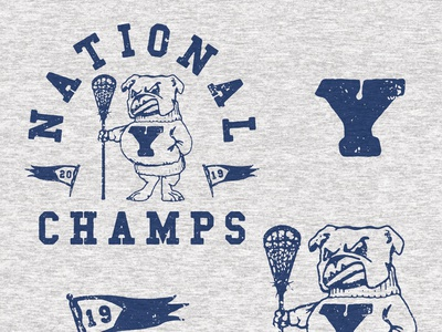 Unused Yale Lacrosse Champs Tee