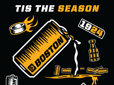 Tis the Season hockey sportsdesign drawn grunge vector illustration sports athletics typography design