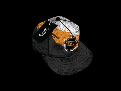 Starter Project - NHL Lid cavydesign nhl hat distressed sportsdesign hockey illustration drawn vintage sports grunge vector athletics typography design