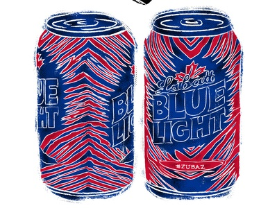 bills zubaz labatt blue light cans illustration drawn vintage grunge athletics typography design sportsdesign sports buffalo bills buffalo football zubaz beer blue light