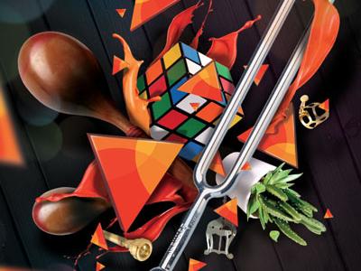 Conservatoire rubikub maracas cactus print conservatoire tuning fork