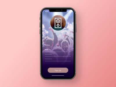 Live Music App Sign Up