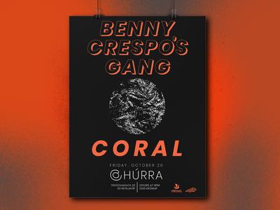 Benny Crespo's Gang + Coral @ Húrra