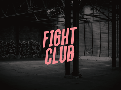 Fight Club (Fan) branding design vector movie typography modern bold condensed font grotesque sans serif lettering logo letters typeface font type