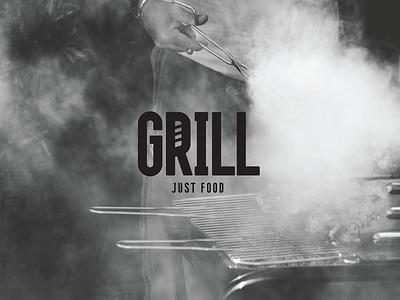 Grill Logo food logodesign typography design lettering vector branding grotesque sans bold black letters typeface type font logo