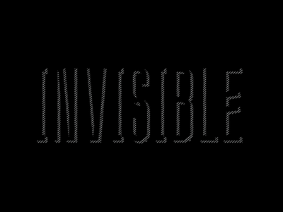 Invisible design branding typeface lettering typography logo letters type font vector
