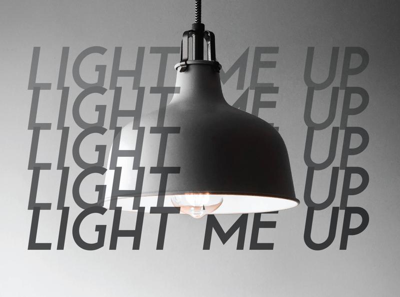 Light me up freefont free freebie illustration design branding typeface lettering typography logo letters type font vector illustraion