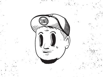 Character Illustration tsu vector illustration portrait tattoo oldschool cartoon character