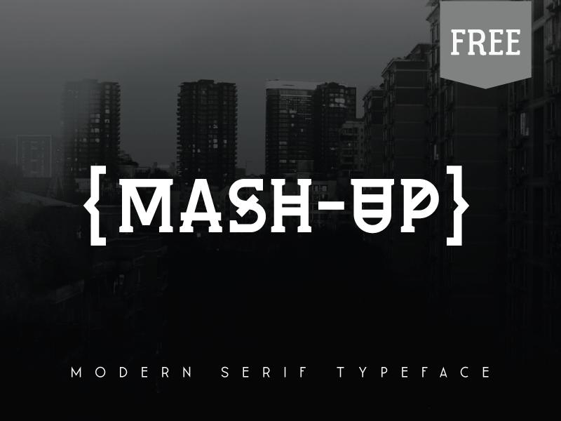 Mash-Up Free Font typeface type typography freebie free font