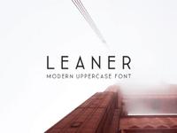 Leaner Typeface