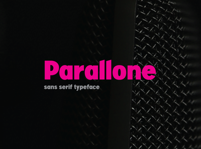 Parallone Typeface
