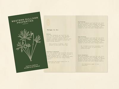Western Sullivan Properties Guidebook graphic design branding pamphlet design pamphlet hospitality guidebook guide design booklet layout