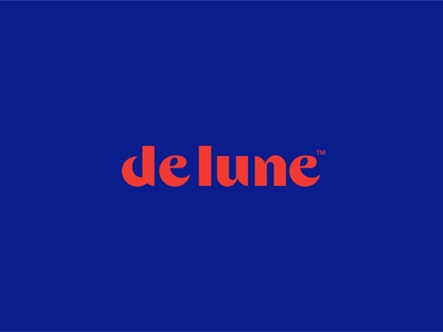 DeLune Logo custom lettering custom type custom typography logo design logo design branding graphic design