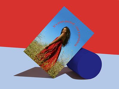 DeLune Postcard art direction layout design branding graphic design