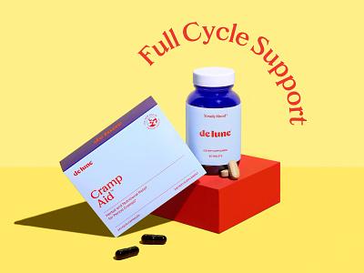 DeLune Cramp Aid Packaging packaging design package design packaging design branding graphic design
