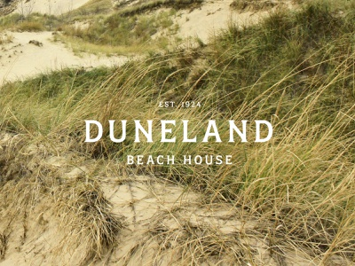 Duneland Beach House Logo dunes beach house logo design logo design branding graphic design