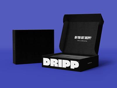 Dripp Skincare Packaging Design skincare packaging skincare shipping box package design packaging branding graphic design