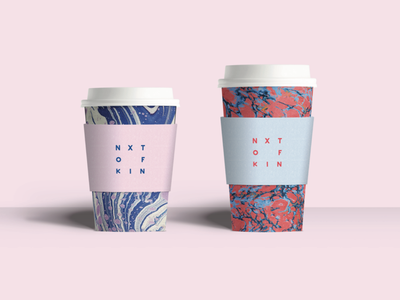 To-Go Coffee Cup coffee cup marbled paper marble branding graphic design packaging mockup packaging design design packaging