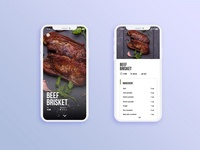 UI/UX design : Recipes app