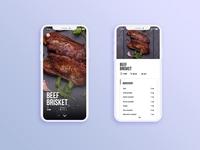 UI/UX design : Recipes app