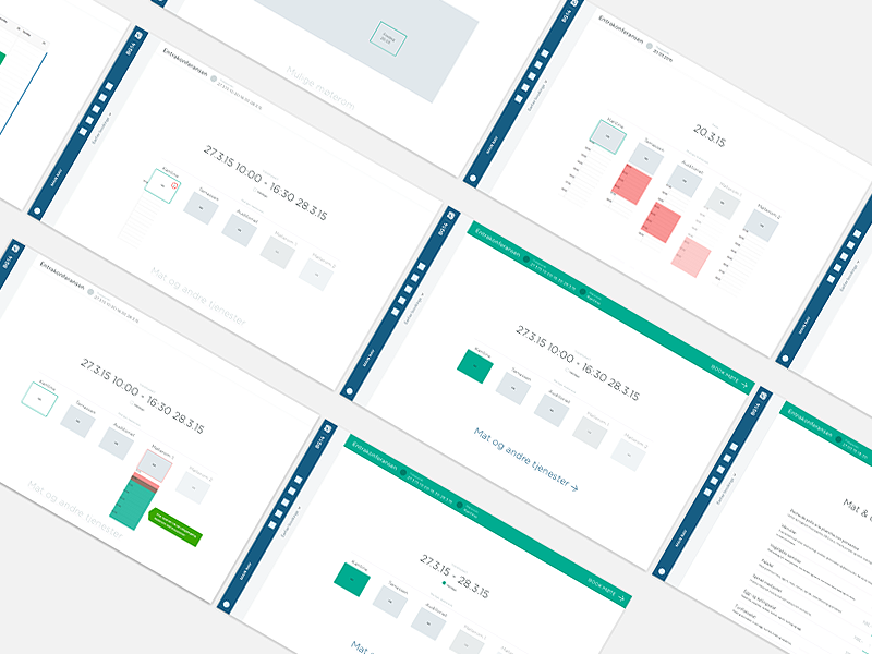 Service /  Booking communication application portal booking progress wireframe ux web flow