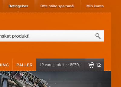Search search orange ecommerce minimal advanced