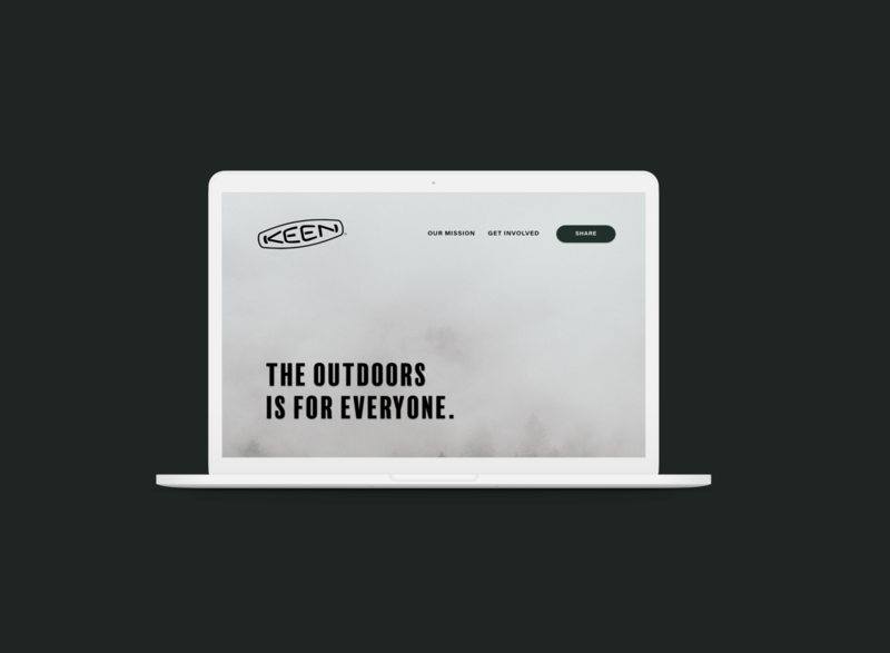 Keen hiking keen outdoor packaging website minimal web ux ui design