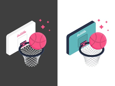 Dunk Design dunk basketball sticker pack sticker mule playoff giveaway free dribbble stickers