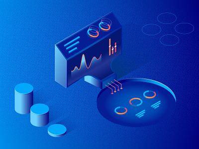 WIP - Isometric Illustrations animation isometric illustrations tech company motion graphics ui gif vector
