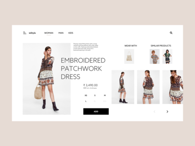 ieStyle Website Layout animation icon visual design interaction website ux ui cloth fashion dress woman