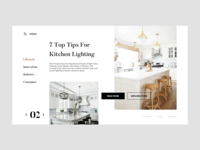 ieStyle Furniture Dribbble lighting lamp chair kitchen furniture ui ux website interaction visual design icon animation