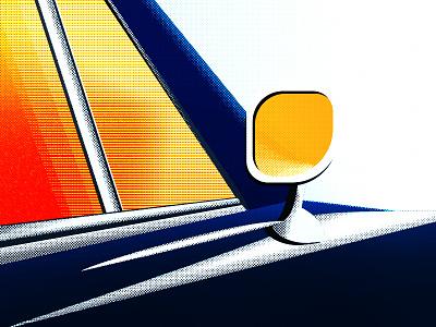 Illustration mustang car adobe effects halftone graphics styles texture style artwork vector comic pop art graphics design design illustraor illustration