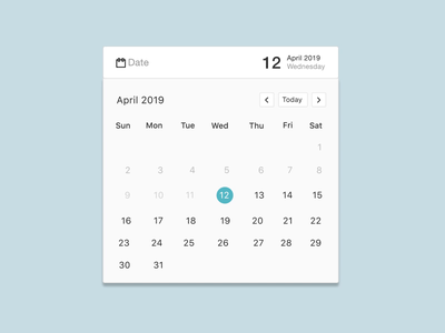 Calendar Component Animation responsive layout responsive design mobile react.js ui components designsystems microinteractions interaction design minimal clean icon layout user experience design user interface design website interaction animation ux ui