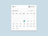 Calendar Component Animation