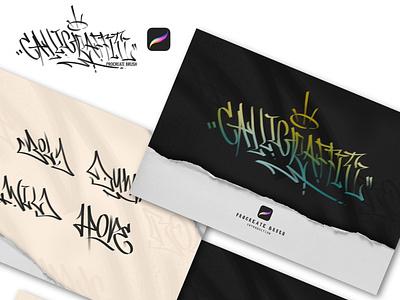 Calligraffiti Brush Procreate by Doste22 illustration procreate brushes procreate procreateapp designforsale design graffitti