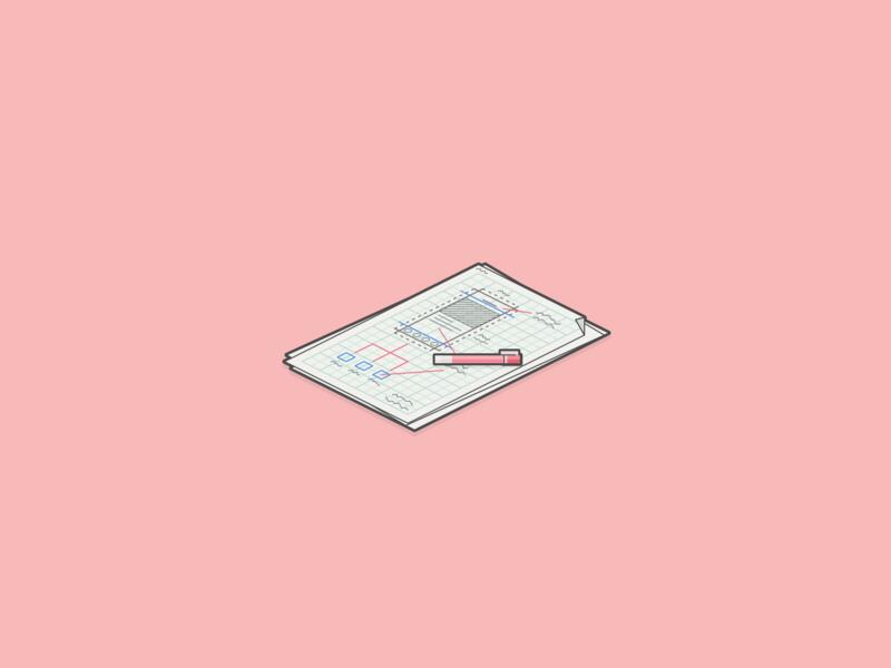 UI Note minecraft isometric illustration graphic design