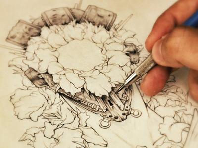PRISON FREEDOM PARADISE illustration drawing graphite art artwork fantasy floral book cover