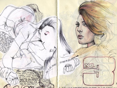 Sketch Page drawing sketch women pen female sketch book figure study