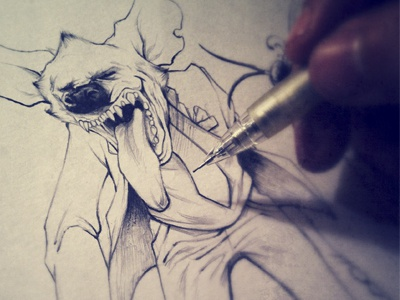 Ear Buzz  sketch drawing concept pencil illustration