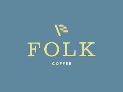 Folk Coffee coffee clarendon flag identity geometric wordmark logomark