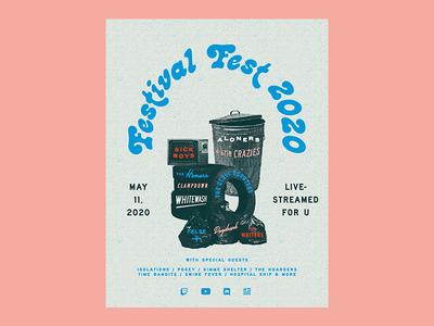 Festival Fest 2020 gigposter show concert festivals festival poster