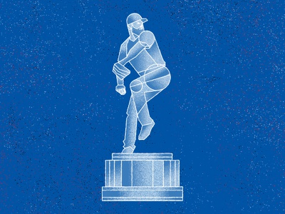The Best Pitcher in Baseball the 100 day project illustration wrigley chicago cubs mlb cy young statue baseball chicago cubs jake arrieta