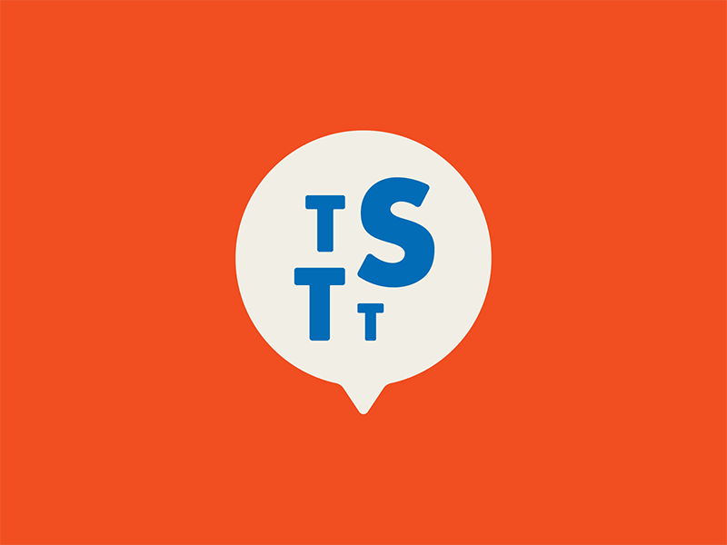 The Story To Tell des moines iowa type mark brand branding podcast story icon bubble speech logo