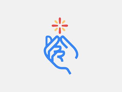 Spark wizard film glowfire snapping icon mark spark logo magic snap hand
