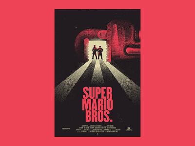 Super Mario Bros. indy film fest indianapolis stipple texture bigger picture show illustration movie poster mario