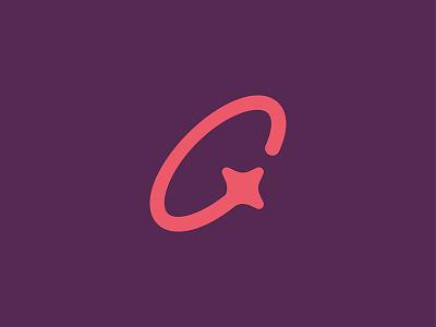 Comet space star icon g mark logo orbit shooting star comet