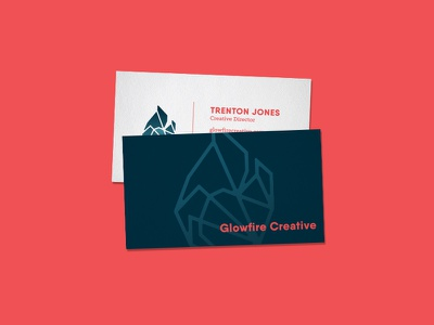 Glowcards brand collateral business card branding icon mark logo