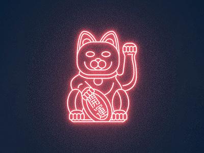 Saint Aubin lucky cat cat illustration line art maneki-neko
